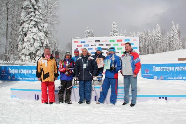 Результаты первого дня соревнований Чемпионата России по лыжным гонкам и биатлону среди спортсменов с поражением опорно-двигательного аппарата и нарушением зрения - тестового мероприятия  к проведению XI Паралимпийских  зимних игр 2014 года в г. Сочи