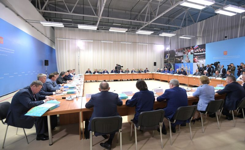 В.П. Лукин в г. Краснодаре принял участие в заседании Совета по развитию физической культуры и спорта под руководством Президента РФ В.В. Путина