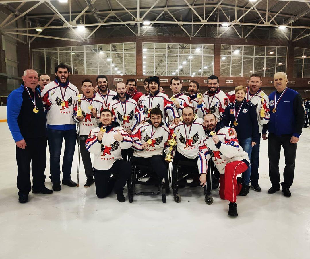 Подмосковный «Феникс» выиграл чемпионат России по следж-хоккею спортивного сезона 2019/2020 года