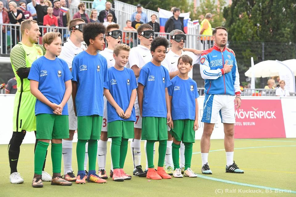 Сборная команда России в финале чемпионата Европы по мини-футболу 5х5 (класс В1, тотально-слепые) одержала победу над командой Испании