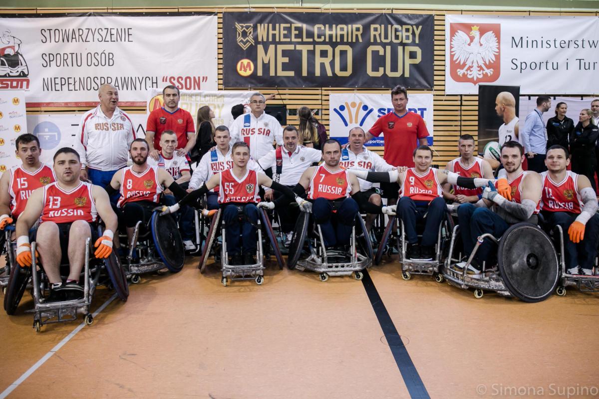 Сборная команда России по регби на колясках заняла 5 место на международных соревнованиях в Польше