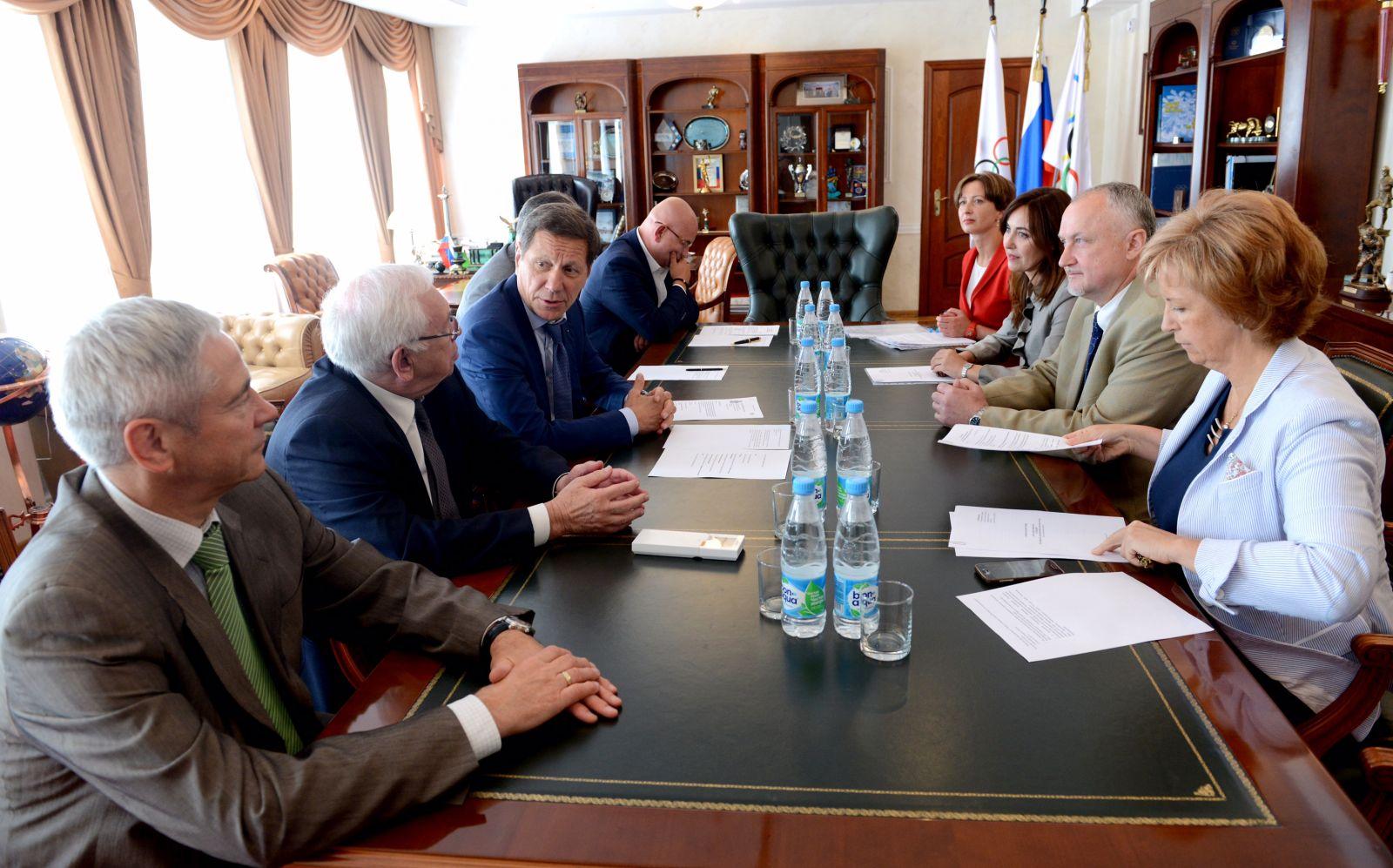 В.П. Лукин, П.А. Рожков в офисе ОКР приняли участие в заседании Учредителей РУСАДА, на котором был утвержден новый генеральный директор организации