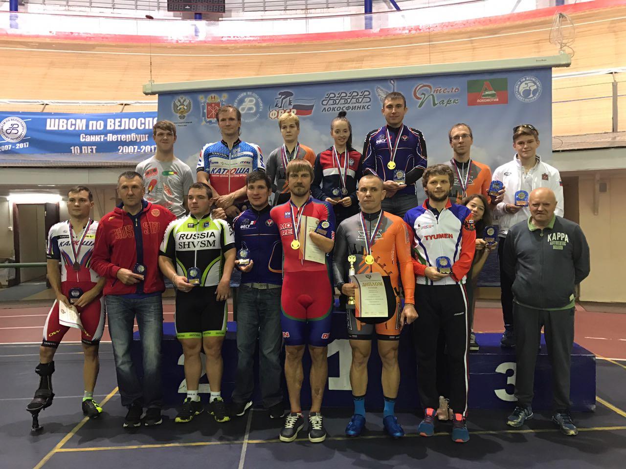 Москвичка Елена Галкина одержала четыре победы на чемпионате России по велоспорту на треке среди лиц с ПОДА в Санкт-Петербурге