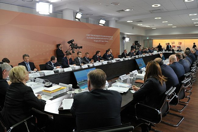 В. П. Лукин принял участие в заседании Совета при Президенте Российской Федерации по развитию физической культуры и спорта