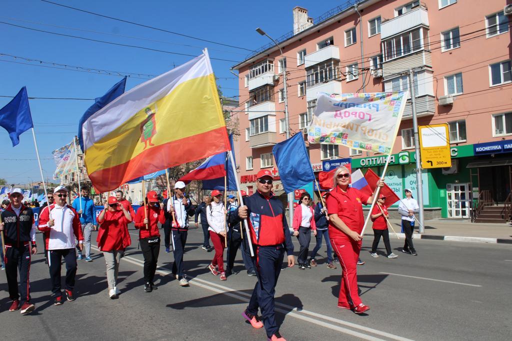 М.В. Кащеева в г. Рязани (Рязанская область) приняла участие в первомайском шествии