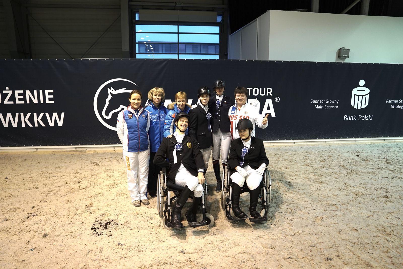 Российские спортсмены завоевали 6 золотых, 5 серебряных и 1 бронзовую медаль на международных соревнованиях по конному спорту среди спортсменов с ПОДА в Польше