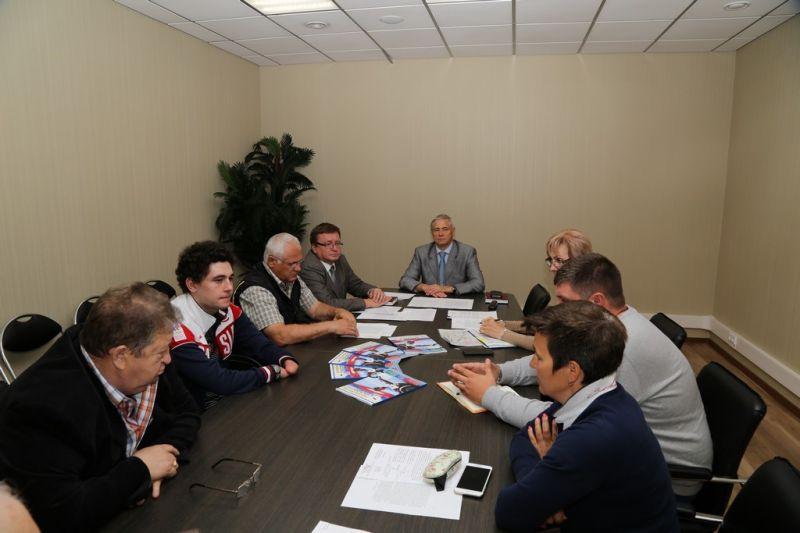 П.А. Рожков в офисе ПКР провёл совещание по вопросам организации подготовки сборной команды России по лыжным гонкам и биатлону спорта лиц с ПОДА