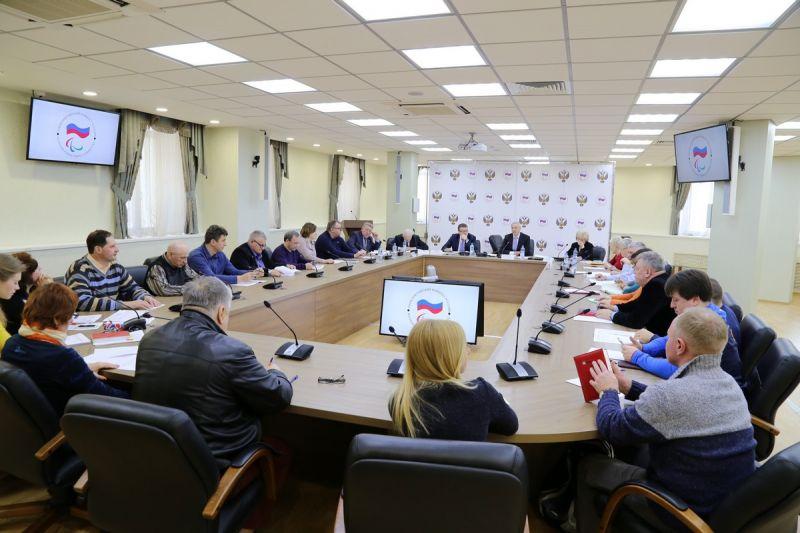 П.А. Рожков в зале Исполкома ПКР провел заседание Бюро рабочей группы ПКР по подготовке паралимпийских сборных команд России к участию в XVI Паралимпийских летних играх 2020 года в г.Токио (Япония)