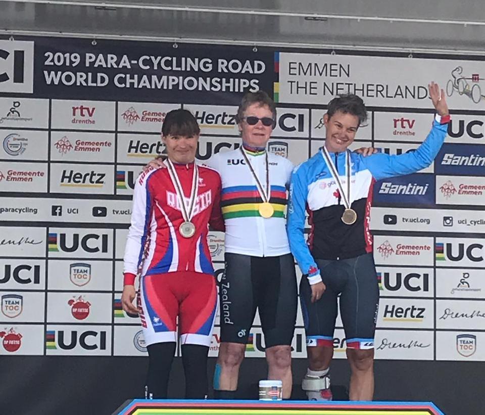 Юлия Сибагатова завоевала серебряную медаль в третий день чемпионата мира по велоспорту на шоссе в Нидерландах