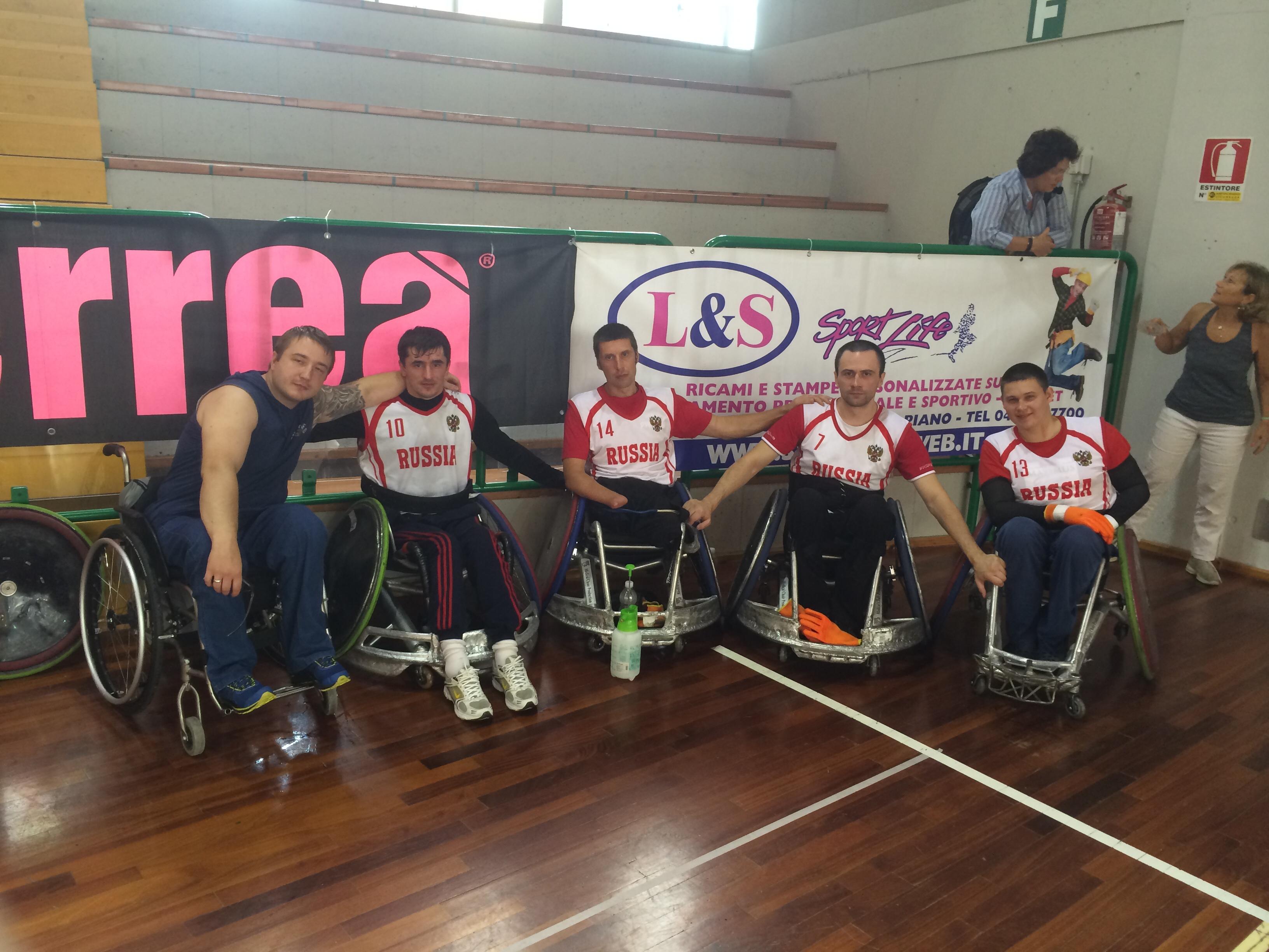 Сборная команда России по регби на колясках заняла 3 место на международных соревнованиях в Италии