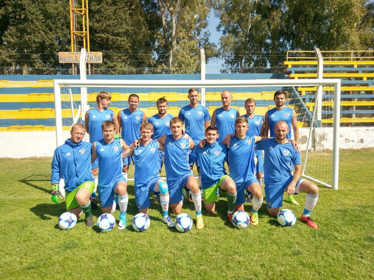 Сборная команда России одержала победу над командой Ирана в своем первом матче на чемпионате мира по футболу ЦП 7х7 в Аргентине