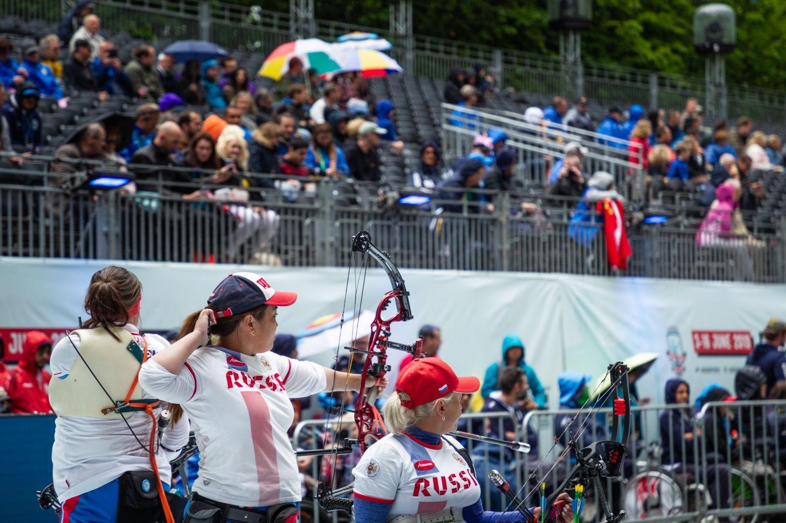 Сборная команда России по стрельбе из лука завоевала 1 золотую, 2 серебряные и 3 бронзовые медали в пятый день чемпионата мира в Нидерландах