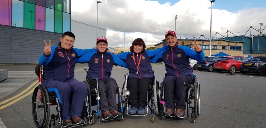 Сборная команда России по керлингу на колясках принимает участие в Stirling Wheelchair Curling Tournament 2019