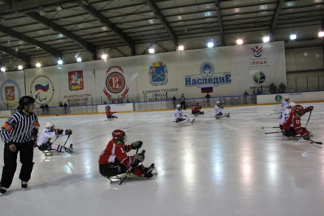 Российские следж хоккеисты обыграли сборную команду Чехии со счетом 6:0 на Международном турнире в г. Подольске и заняли первое место