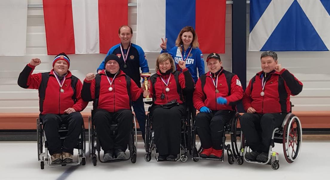 Сборная команда России по керлингу на колясках стала серебряным призером международного турнира Open Czech Wheelchair Curling Tournament
