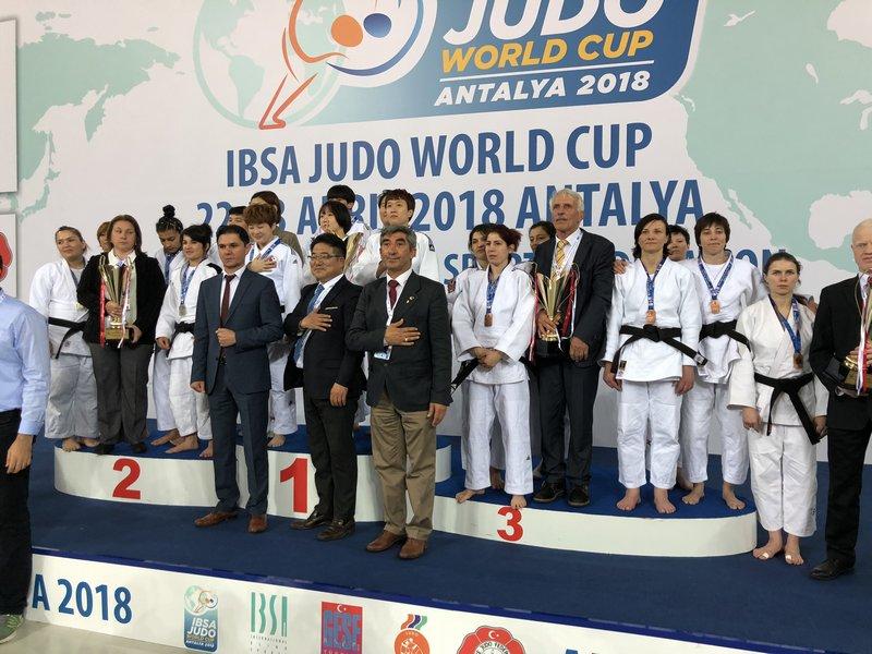 Золотую, серебряную и 4 бронзовые медали завоевали российские спортсмены на этапе Кубка мира по дзюдо спорта слепых в Турции