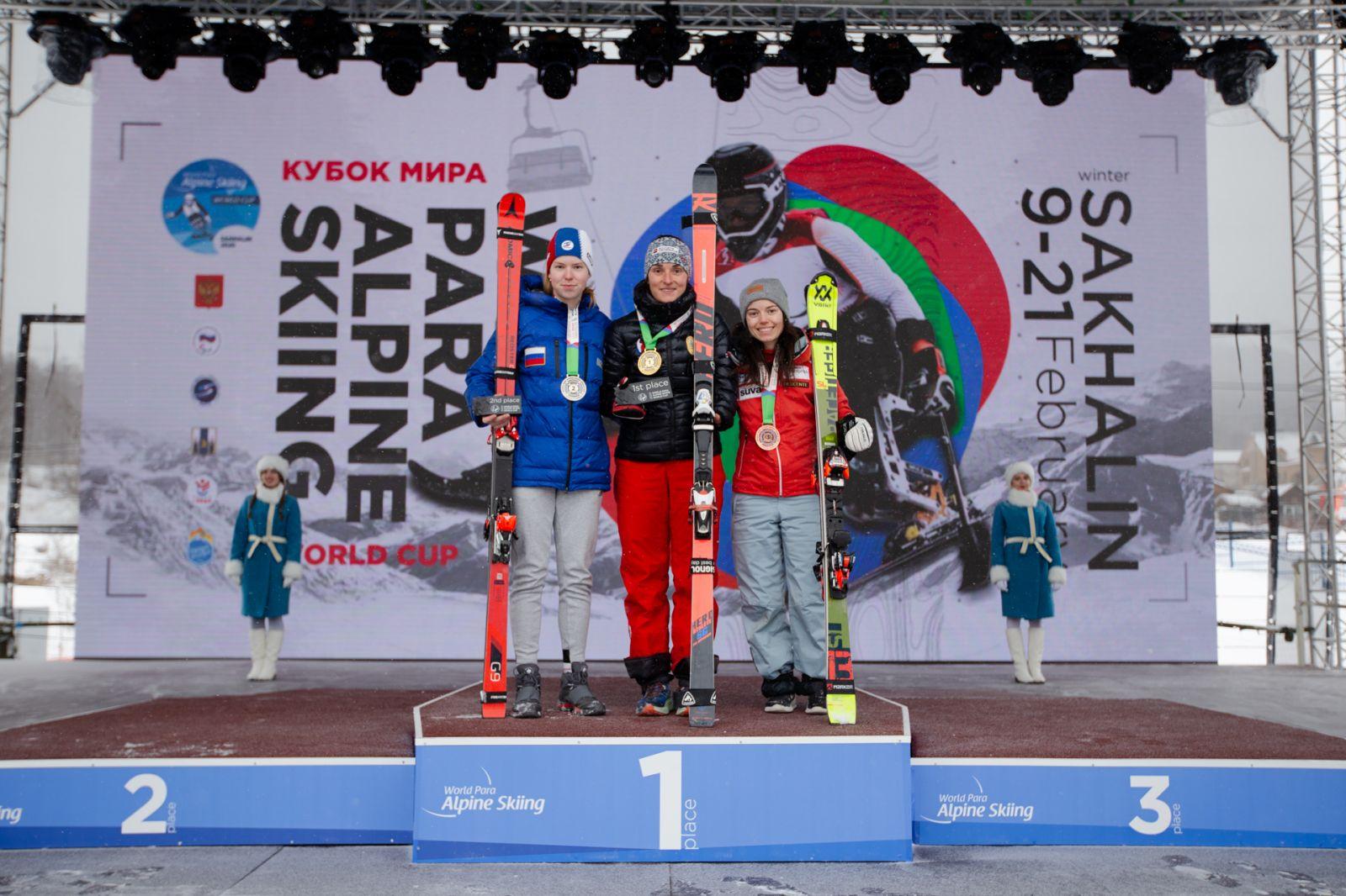 3 серебряные и 6 бронзовых медалей завоевала сборная России по итогу 3-х соревновательных дней 4-го этапа Кубка мира по горнолыжному спорту МПК в Южно-Сахалинске