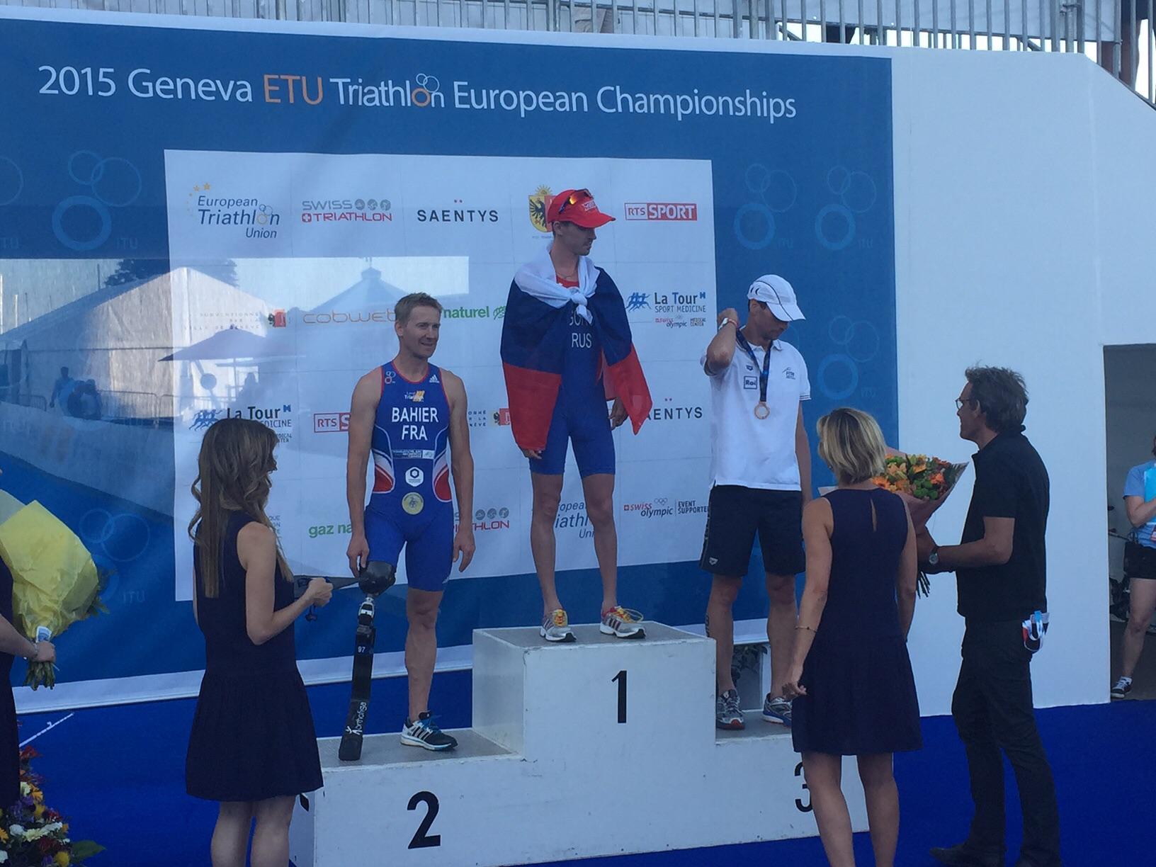 Василий Егоров и Александр Ялчик завоевали золотую и серебряную медали чемпионата Европы по паратриатлону в Швейцарии