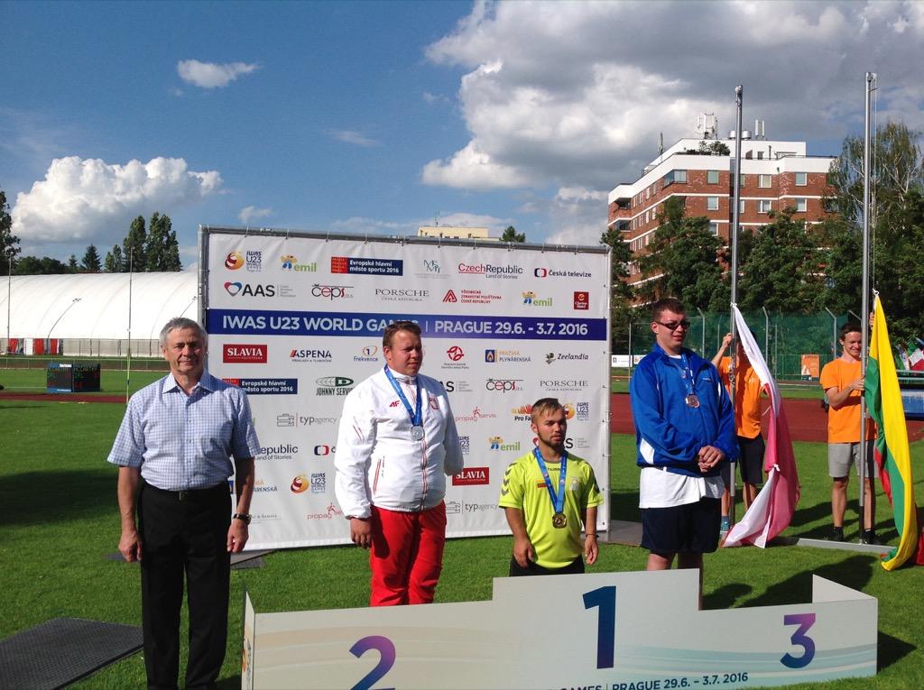 В.П. Лукин, П.А. Рожков в г. Праге (Чехия) приняли участие в церемонии награждения победителей и призеров Всемирных молодежных игр IWAS по легкой атлетике