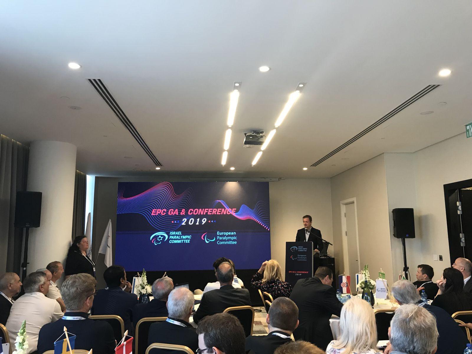 В.П. Лукин, П.А. Рожков в г. Натанья (Израиль) приняли участие в Конференции Европейского паралимпийского комитета