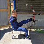 #trainingtogether with prize winner of the Russian championship in Para Archery among PI Athletes Aleksandr Gombozhapov