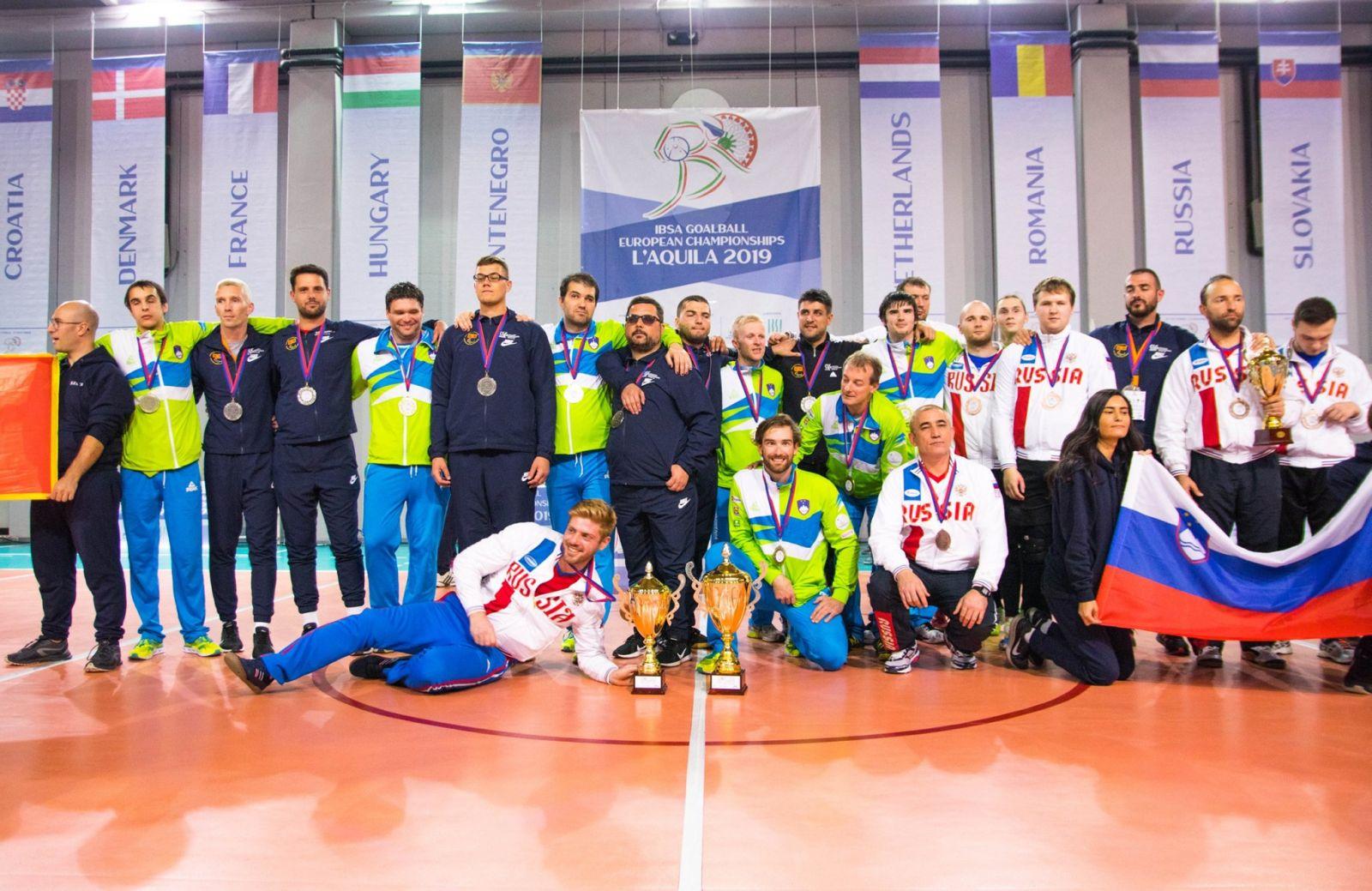 Мужская сборная команда России по голболу спорта слепых стала бронзовым призером чемпионата Европы в дивизионе С и вышла в дивизион В