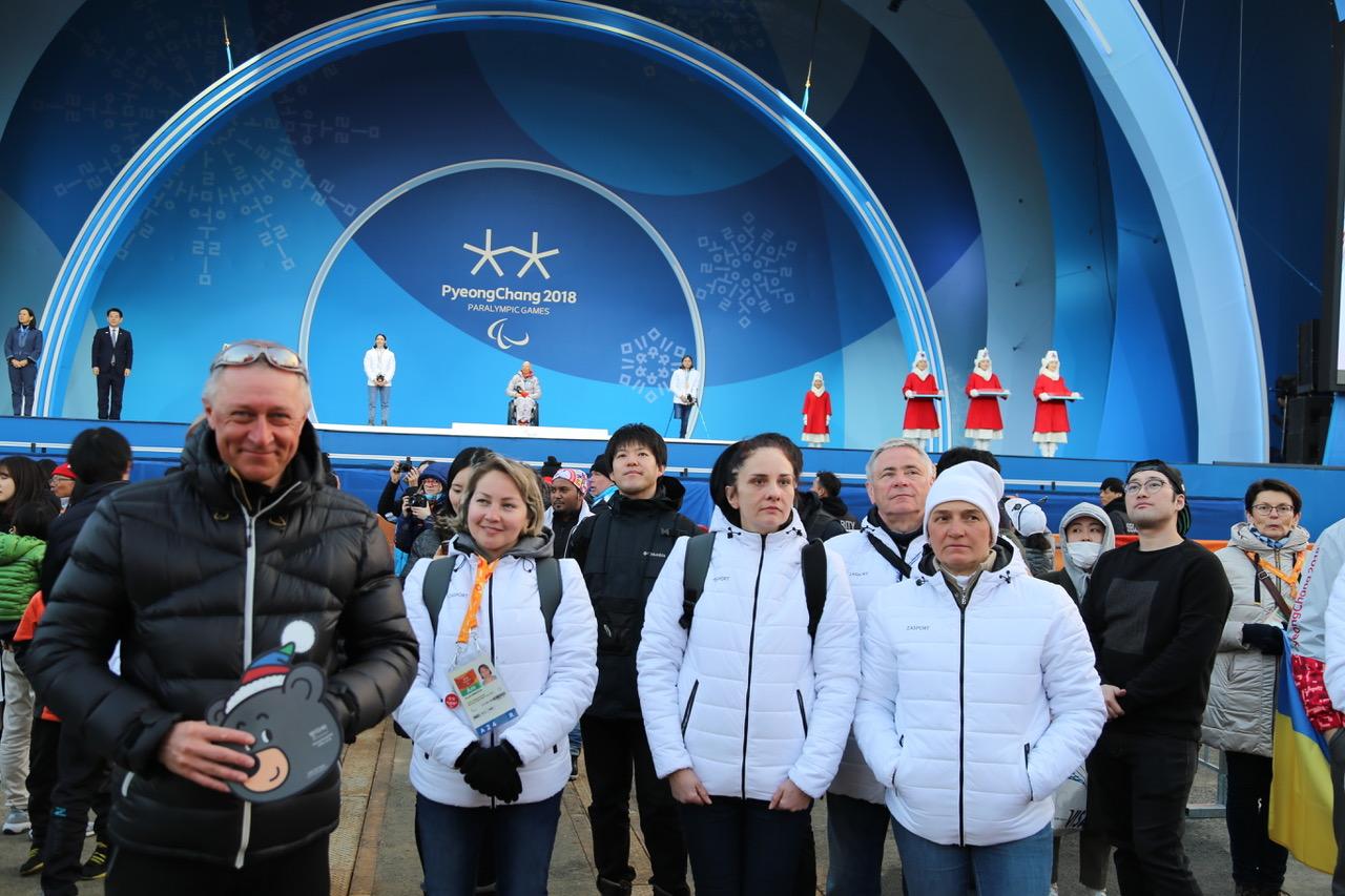 П.А. Рожков, И.А. Громова приняли участие в просмотре соревнований четвертого соревновательного дня Паралимпиады по биатлону спорта лиц с поражением опорно-двигательного аппарата и спорта слепых