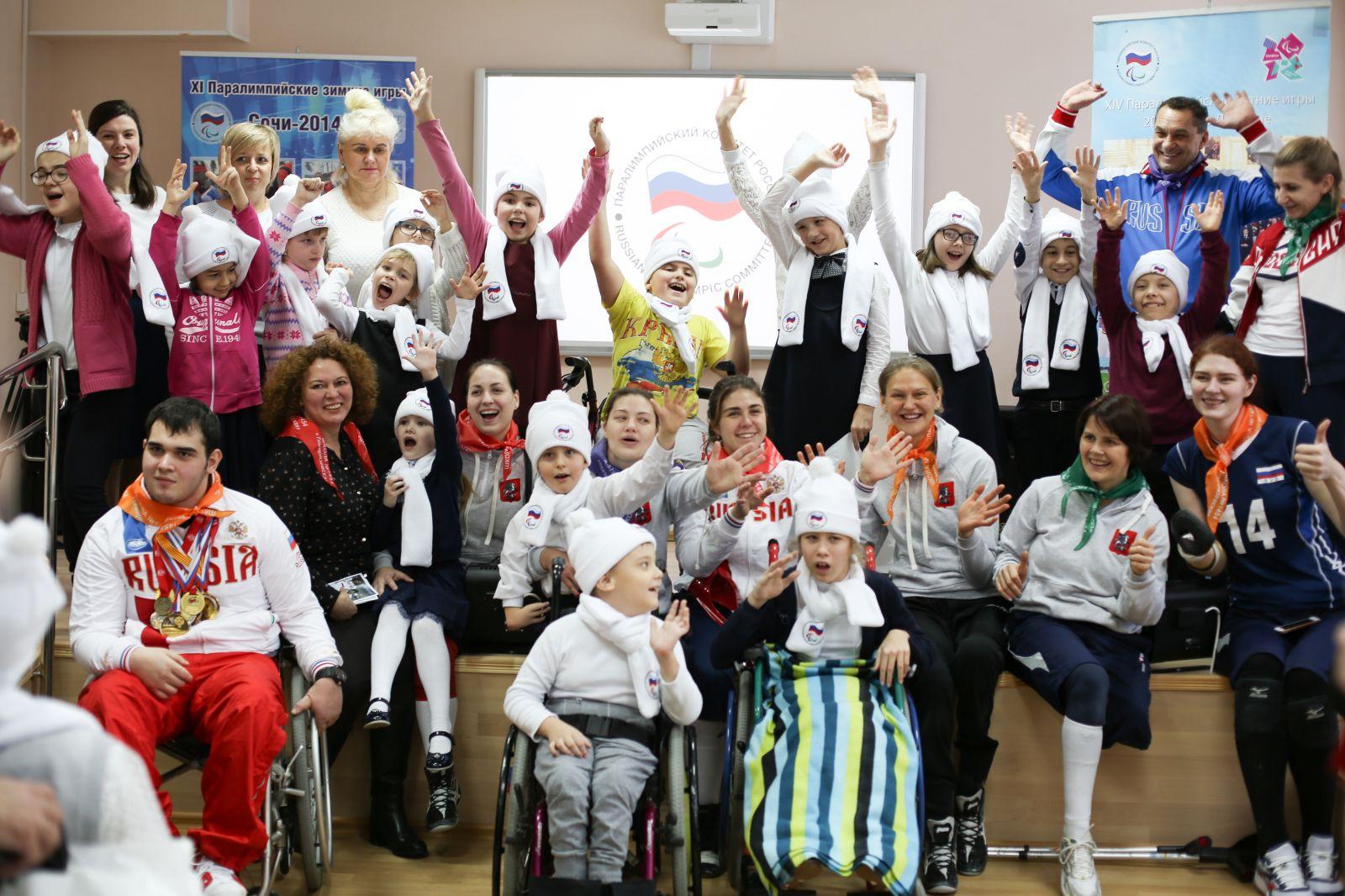 Чемпионы и призеры Паралимпийских игр провели Паралимпийский урок для учеников школы № 1454 «Тимирязевская»