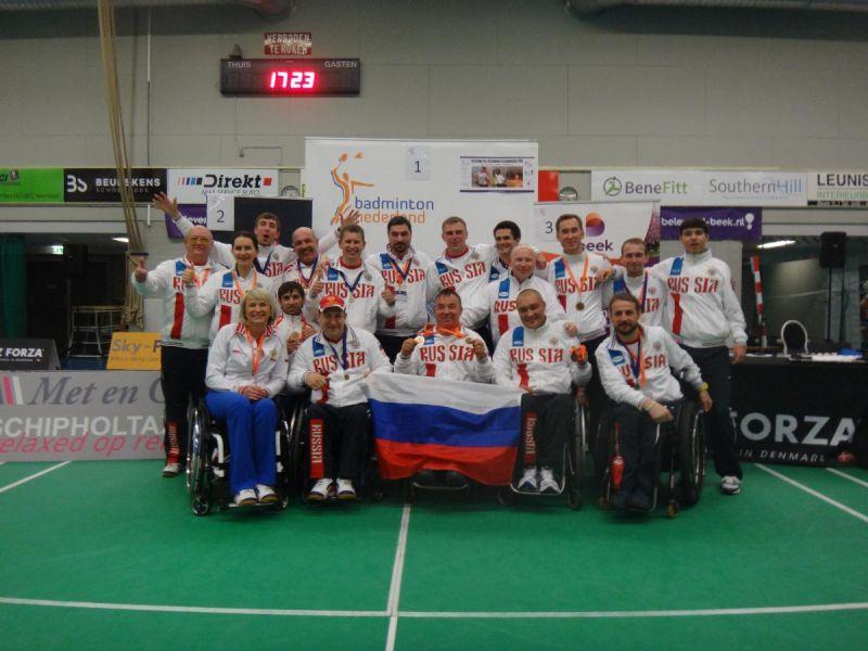 Российские спортсмены завоевали пять бронзовых медалей на чемпионате Европы по бадминтону спорта лиц с ПОДА в Голландии
