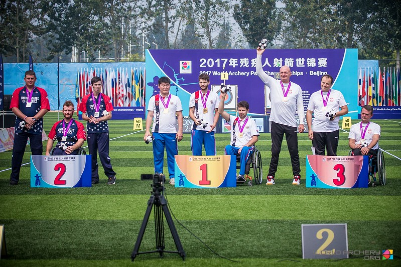 Россияне выиграли  золотую, серебряную и бронзовую медали  по итогам третьего дня чемпионата мира по стрельбе из лука спорта лиц с ПОДА в Китае
