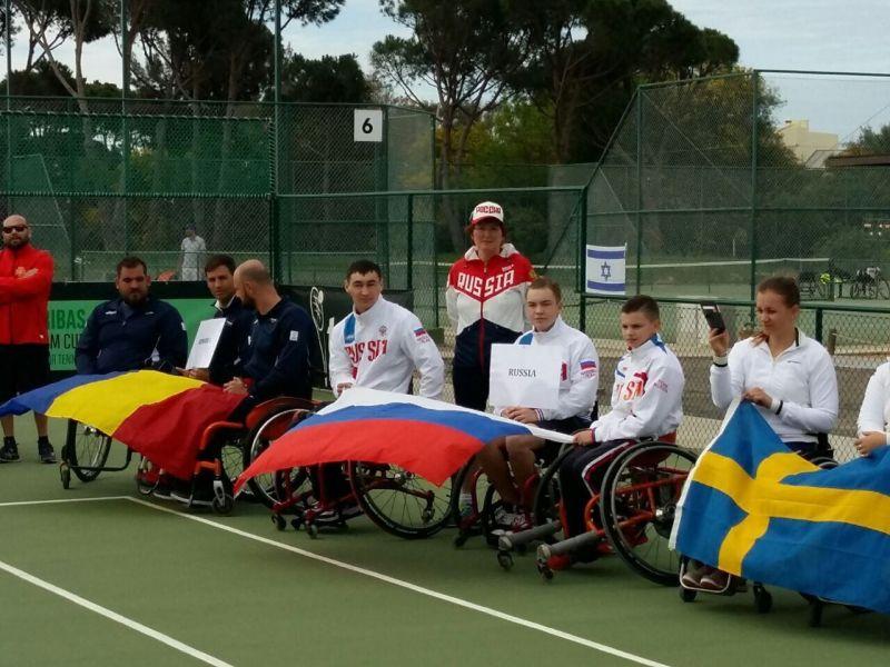 Мужская сборная России заняла шестое место в командном чемпионате Европы по теннису на колясках