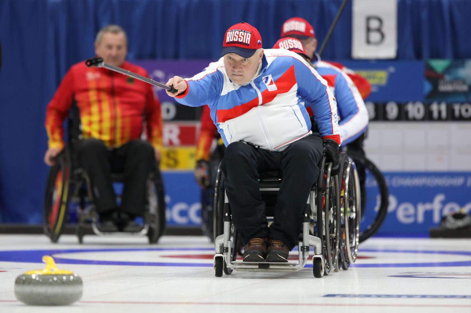 Сборная команда России по керлингу на колясках в 3-м матче группового этапа чемпионата мира уступила сборной Норвегии