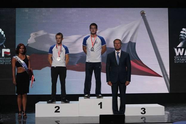 Во второй  соревновательный день  чемпионата и первенства мира по армспорту среди лиц с поражением опорно-двигательного аппарата в Польше  российские спортсмены завоевали 12 медалей: 6 золотых, 4 серебряных и 2 бронзовых