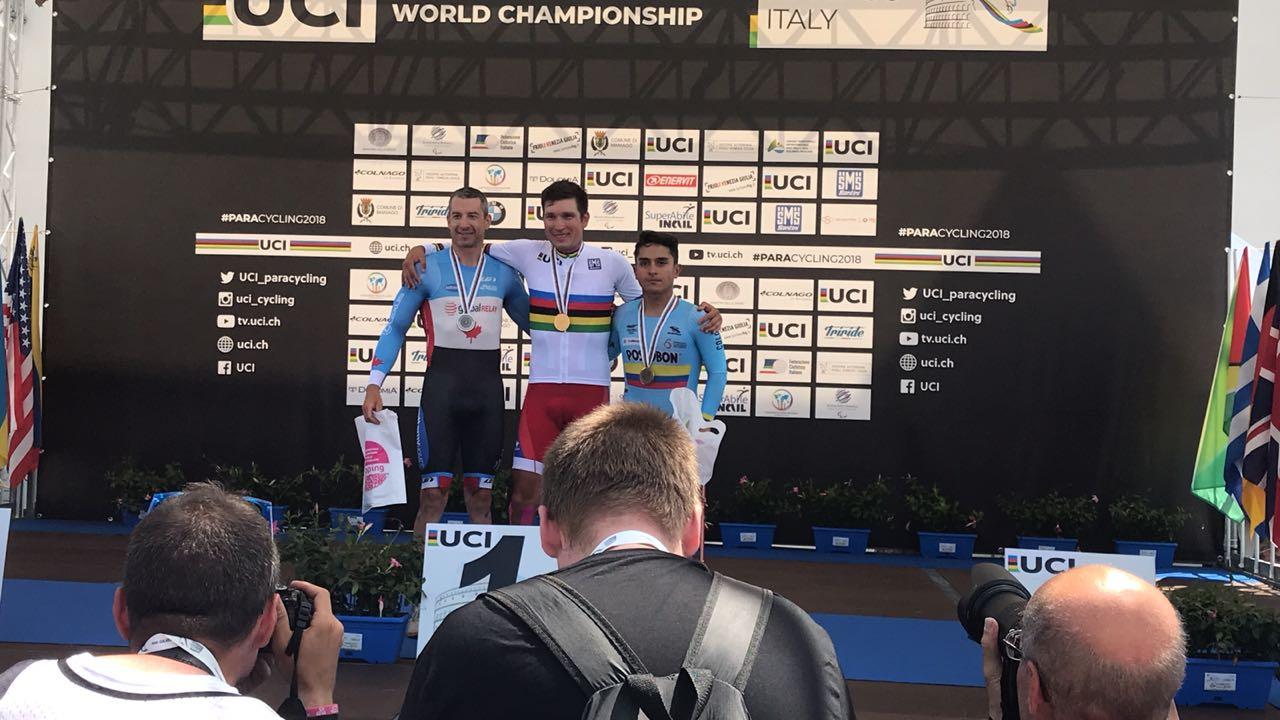 Российские спортсмены завоевали 1 золотую, 3 серебряные и 1 бронзовую медали по итогам 2-х дней чемпионата мира по велоспорту среди лиц с ПОДА и нарушением зрения в Италии