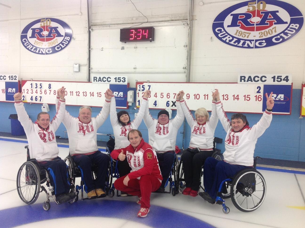 Сборная команда России по керлингу на колясках завершила участие в серии международных турниров в Северной Америке