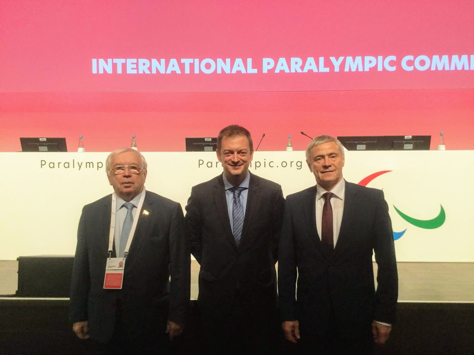 В.П. Лукин, П.А. Рожков в рамках Генеральной Ассамблеи МПК встретились с президентом МПК Эндрю Парсонсом
