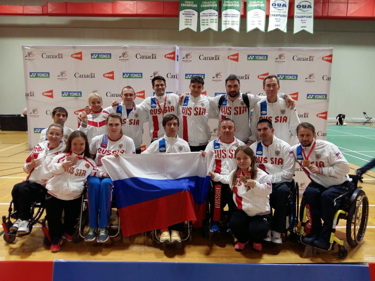 6 бронзовых медалей завоевала сборная России по парабадминтону на международных соревнованиях в Канаде