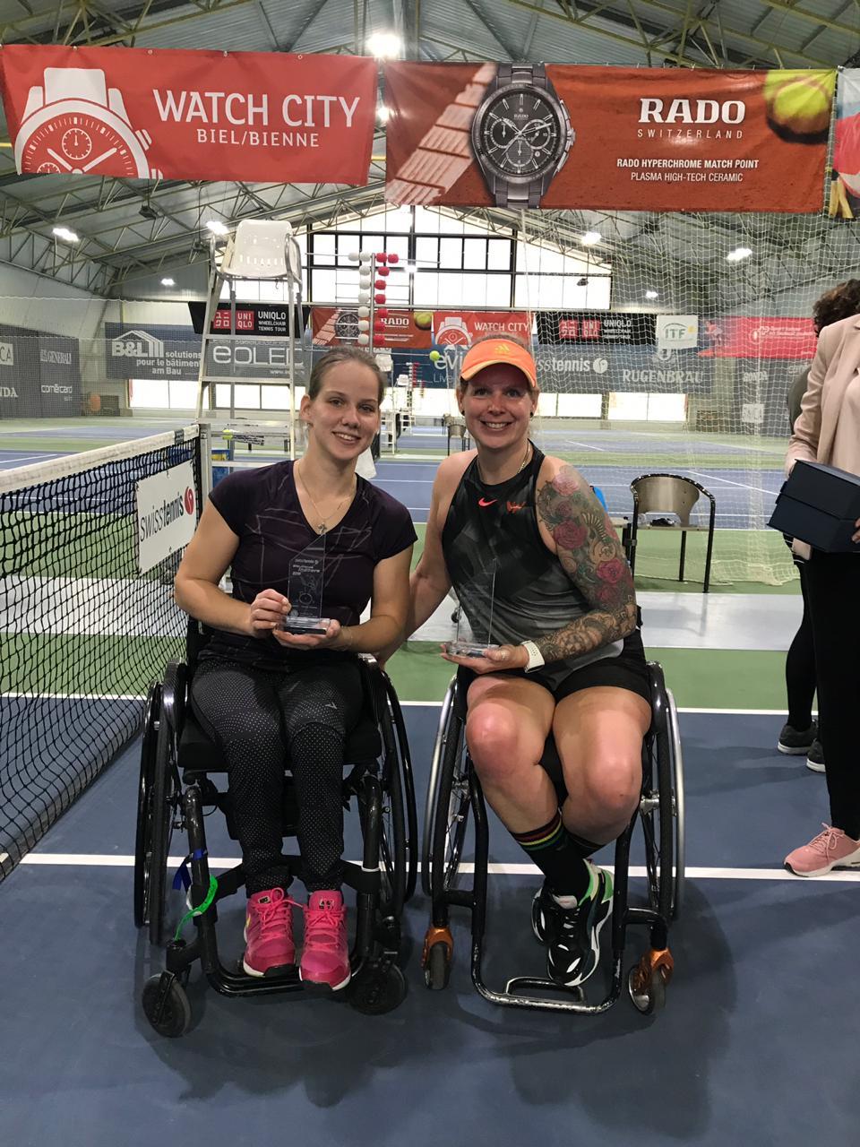 Подмосковная спортсменка Виктория Львова завоевала золотую медаль в парных соревнованиях международного турнира по теннису на колясках в Швейцарии
