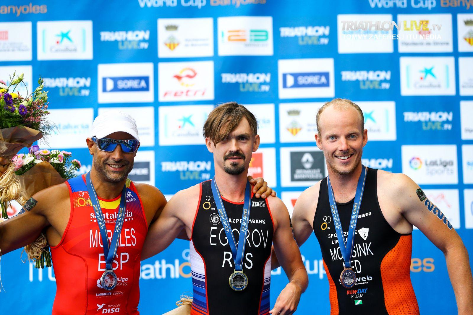 Василий Егоров стал победителем этапа Кубка мира по паратриатлону в Испании
