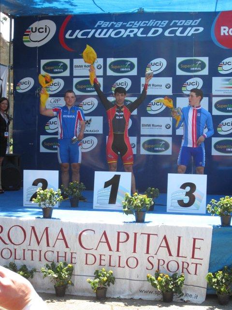 3 серебряные и 2 бронзовые медали завоевали российские спортсмены  на 1 этапе  Кубка мира по паравелоспорту (шоссе)