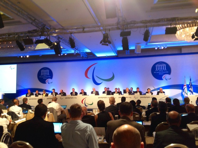 В. П. Лукин и П. А. Рожков в г. Афинах (Греция) приняли участие в Генеральной Ассамблее Международного паралимпийского комитета