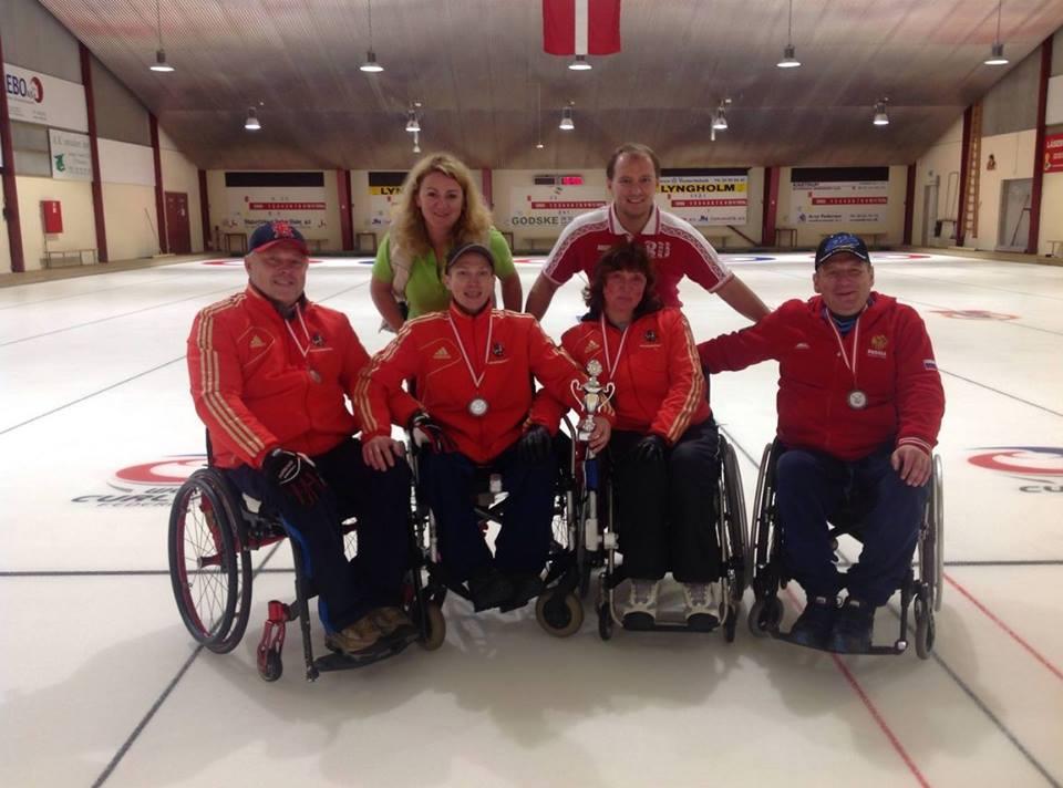 Российская команда по керлингу на колясках «Москвич» завоевала 2 место на международном турнире в Дании