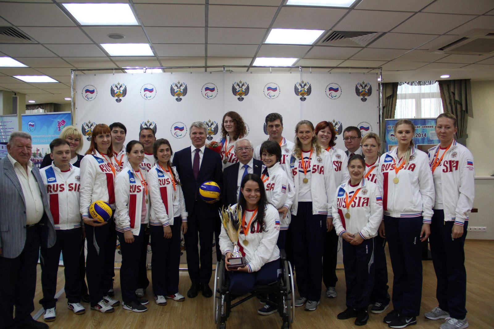 ПКР поздравляет членов женской сборной команды России по волейболу сидя с присвоением почетного спортивного звания «Заслуженный мастер спорта России»