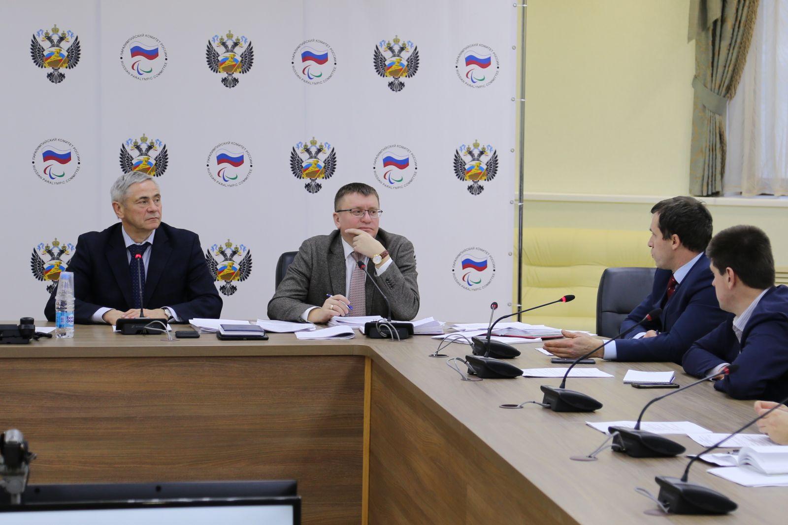 П.А. Рожков в зале Исполкома Паралимпийского комитета России провел заседание Совета по координации программ, планов и мероприятий ПКР