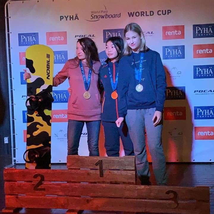 Подмосковная парасноубордистка Виктория Якимчук стала бронзовым призером этапа Кубка мира в Финляндии