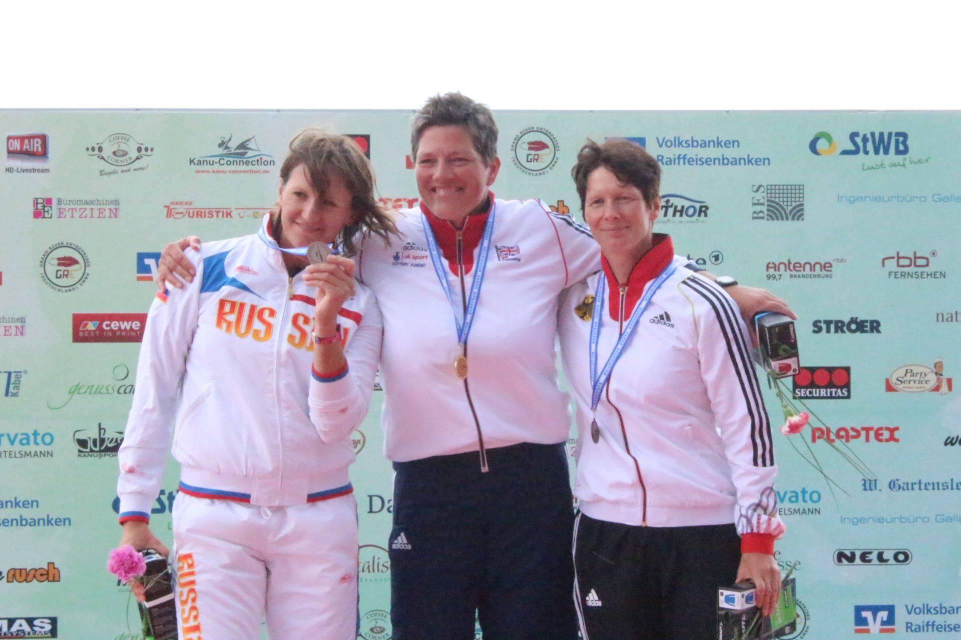 Сборная команда России по гребле на байдарках и каноэ спорта лиц с поражением опорно-двигательного аппарата завоевала две серебряных и одну бронзовую медали на чемпионате Европы, который завершился в г.Бранденбург-на-Хафеле (Германия)