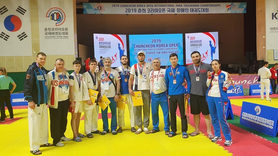 2 золотые, 2 серебряные и 4 бронзовые медали завоевали российские паратхэквондисты на международных соревнованиях в Корее