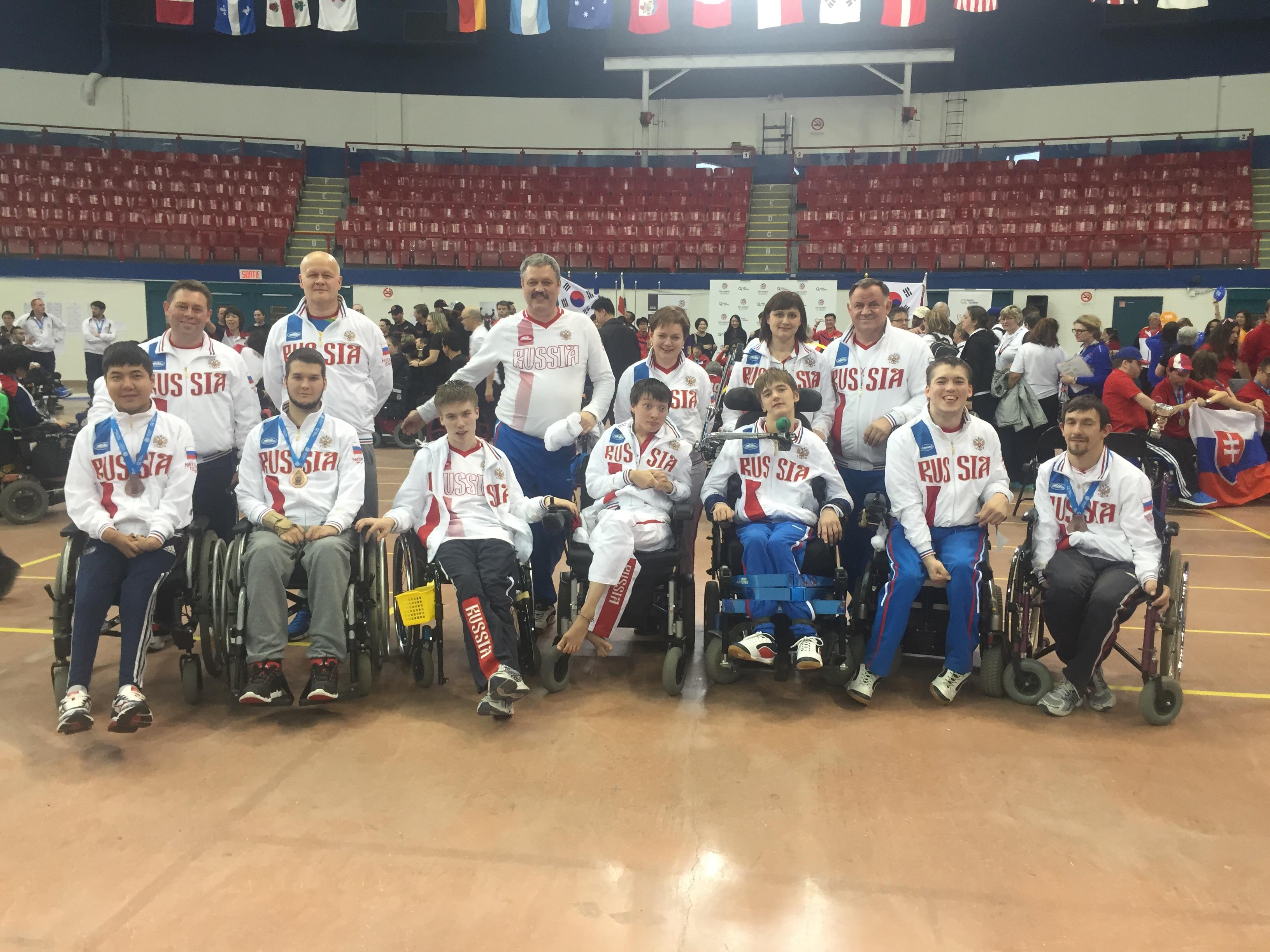 Сборная команда России по бочча завоевала 2 бронзовые медали на международных соревнованиях в Канаде