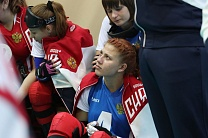 #trainingtogether with a World champion in Goalball among VI Athletes Irina Arestova