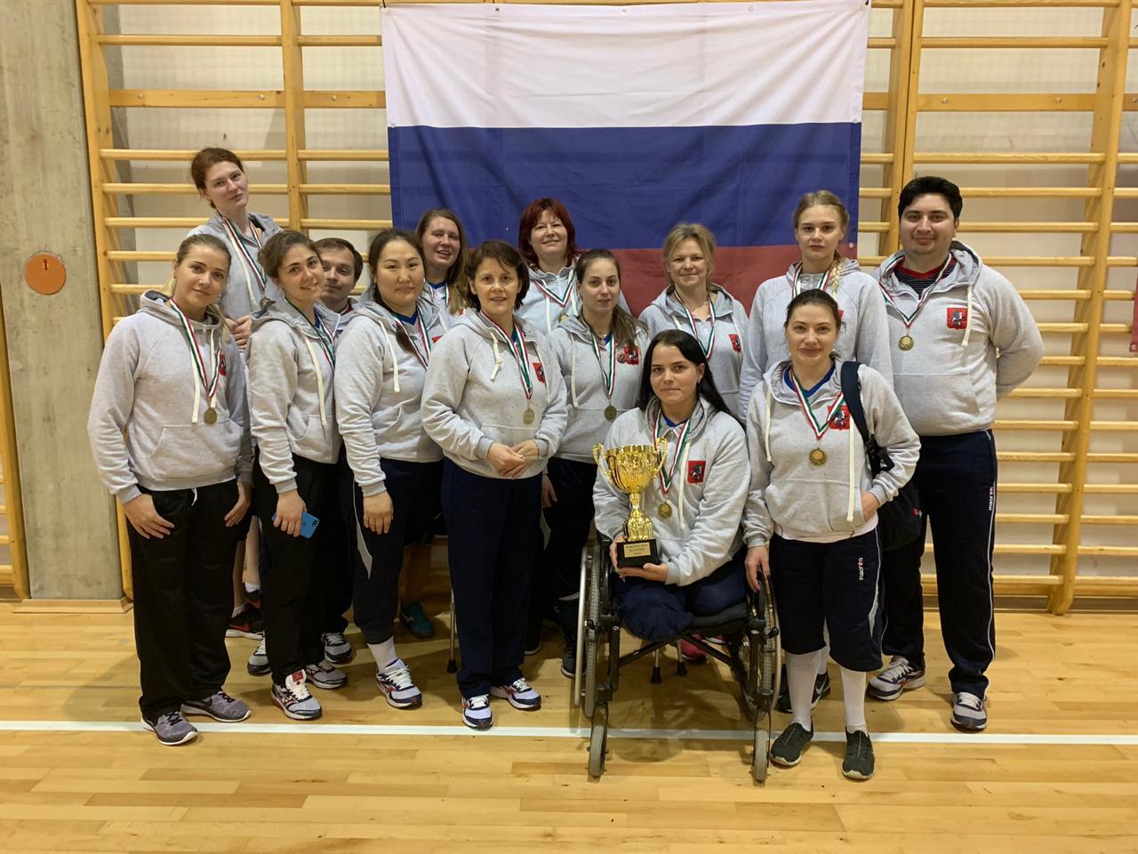 Женская сборная команда России по волейболу сидя стала победителем международных соревнований в Венгрии